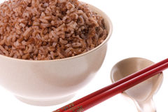 Steamed High Fibre Red Rice Royalty Free Stock Photos