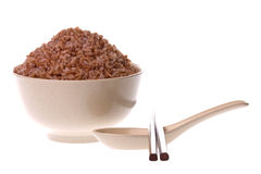 Steamed High Fibre Red Rice Stock Image