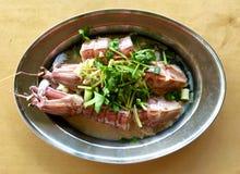 Steamed large mantis prawn or shrimp Stock Images