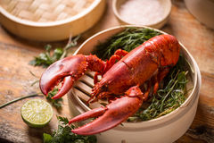 Steamed lobster Royalty Free Stock Images