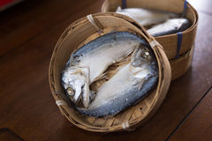 Steamed mackerel Stock Photo