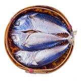 Steamed mackerel or tuna steamed Stock Photos