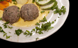 Steamed meat balls Royalty Free Stock Images