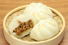 Steamed meat bun Royalty Free Stock Images
