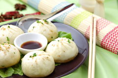 Steamed meat dumpling Stock Photos