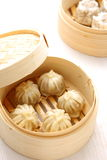Steamed meat dumpling Stock Photo