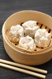 Steamed meat dumpling Stock Photos