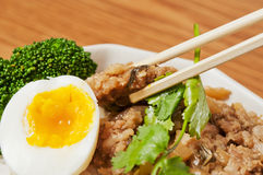 Steamed meat  and  egg Royalty Free Stock Images