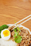 Steamed meat  and  egg Royalty Free Stock Image