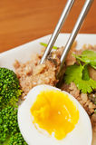 Steamed meat  and  egg Stock Photography