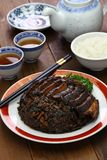 Steamed mui choy with pork belly Royalty Free Stock Images