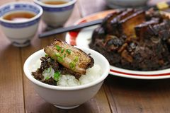 Steamed mui choy with pork belly Royalty Free Stock Photography
