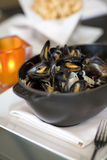 Steamed Mussells Royalty Free Stock Photography