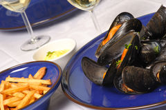 Steamed mussels 1 Royalty Free Stock Photos