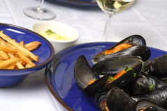 Steamed mussels 2 Royalty Free Stock Images