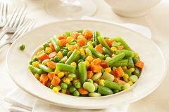 Steamed Organic Vegetable Medly Stock Photo