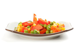 Steamed Organic Vegetables Royalty Free Stock Image