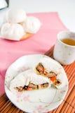 Steamed pork buns, chinese dim sum Stock Photos