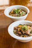 Steamed pork noodle Royalty Free Stock Photography