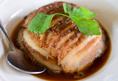 Steamed pork underplayed Royalty Free Stock Photo