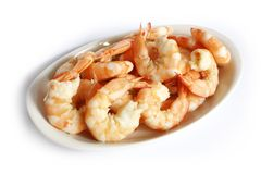 Steamed Prawns Royalty Free Stock Photos