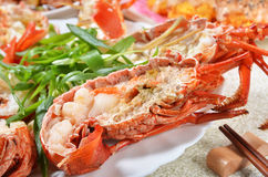 Steamed prawns Royalty Free Stock Photography