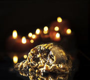 Steamed Pudding and Candles Stock Images