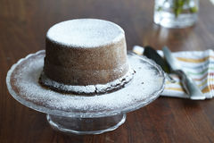 Steamed pudding chocolate cake Stock Image