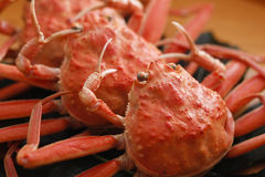 Steamed red king crab for meal on the table in restaurant Royalty Free Stock Photo