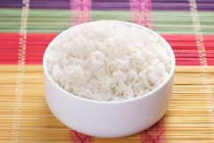 Steamed rice in bowl Royalty Free Stock Image