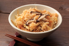 Steamed rice with mushroom Royalty Free Stock Photography