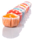 Steamed Rice Polka Dot Muffin IX Royalty Free Stock Images