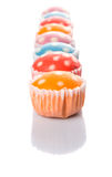 Steamed Rice Polka Dot Muffin X Stock Photography
