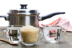 Steamed rice - a recipe Royalty Free Stock Photography