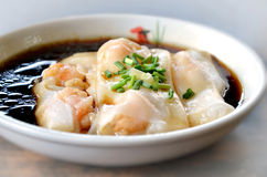 Steamed rice roll Royalty Free Stock Images
