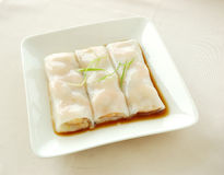 Steamed rice roll with shrimp. Chinese cuisine. yumcha, chinese food Stock Images