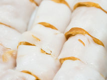 Steamed rice roll. Stock Photo
