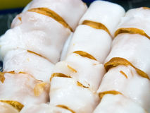 Steamed rice roll. Stock Photography