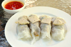 Steamed rice-skin dumplings with pork Stock Photography