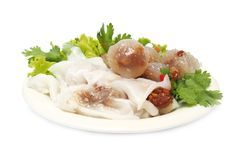 Steamed rice-skin dumplings and tapioca balls Royalty Free Stock Images