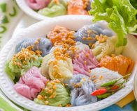 Steamed rice skin dumplings Royalty Free Stock Photography