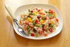 Steamed rice with vegetables Stock Photo