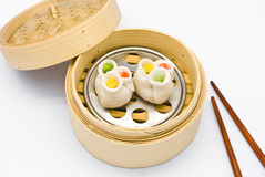 Steamed Rolls Stuffed with Pork and Shrimp Royalty Free Stock Image