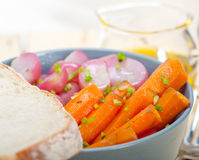 Steamed  root vegetable on a bowl Stock Photography