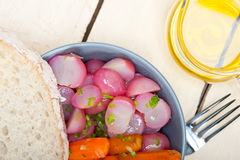 Steamed  root vegetable on a bowl Royalty Free Stock Photography