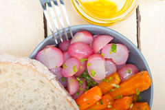 Steamed  root vegetable on a bowl Stock Image