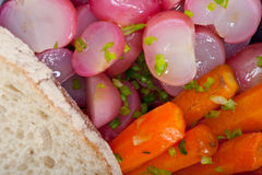 Steamed  root vegetable on a bowl Stock Images