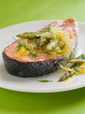 Steamed salmon Royalty Free Stock Image