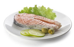 Steamed salmon Stock Image