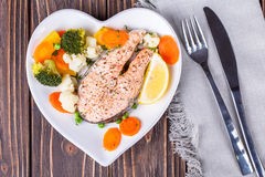 Steamed salmon Royalty Free Stock Photography
